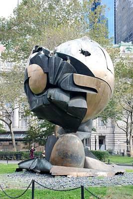 W T C Fountain Sphere Print by Rob Hans