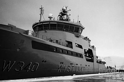 w340 kv barents sea norwegian coast guard kystvakt vessel Honningsvag finnmark  Art Print by Joe Fox