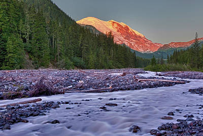 White River Photograph - Wa, Mount Rainier National Park, White by Jamie and Judy Wild