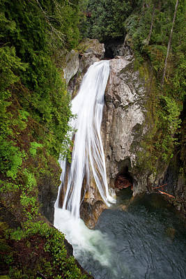 Snoqualmie Photograph - Wa, Olallie State Park, Twin Falls by Jamie and Judy Wild