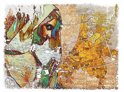 Painting - Waarom? Maria? by Arie Van Garderen