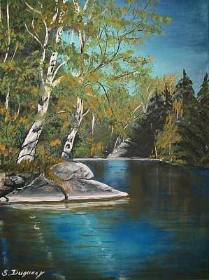 Waterscape Painting - Wabigoon Lake by Sharon Duguay