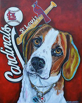 Baseball Painting - Wacha by Patti Schermerhorn