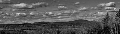Photograph - Wachusett Mountain Bw by Michael Saunders