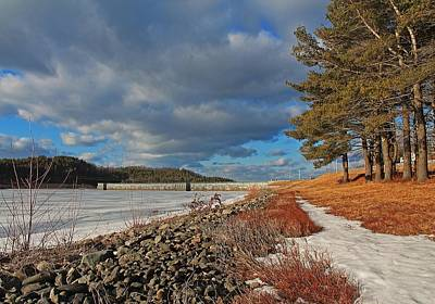 Photograph - Wachusett Reservoir Frozen by Michael Saunders