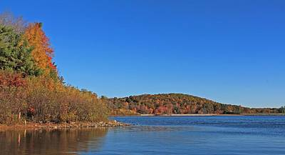 Photograph - Wachusett Reservoir In Autumn by Michael Saunders