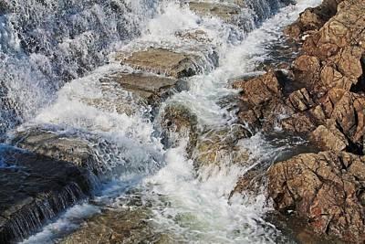Photograph - Wachusett Reservoir Spillway 4 by Michael Saunders