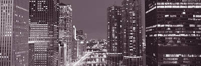 Wacker Drive, River, Chicago, Illinois Art Print by Panoramic Images