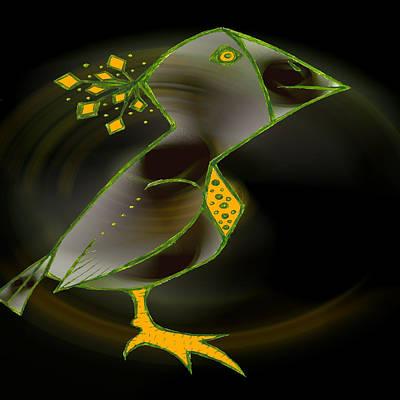 Wacko Bird Art Print by Josephine Ring