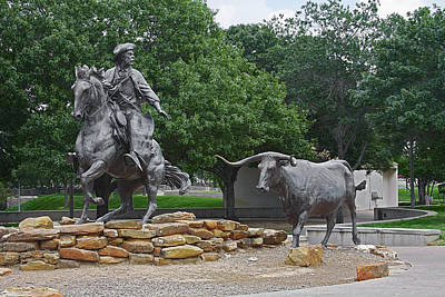 Bull Photograph - Waco - Branding The Brazos by Christine Till