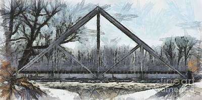 Drawing - Waddell Truss Bridge by Liane Wright