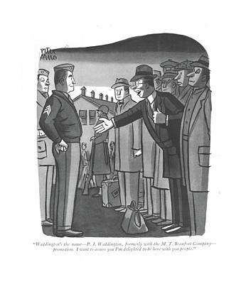 Drawing - Waddington's The Name - P. J. Waddington by Peter Arno
