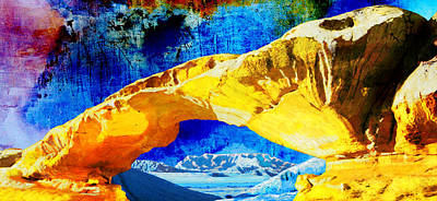 Rabat Painting - Wadi Rum Natural Arch by Catf