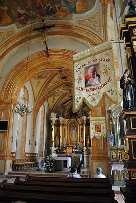 Photograph - Wadowice Basilica John Paul II Baptized Here by Jacqueline M Lewis