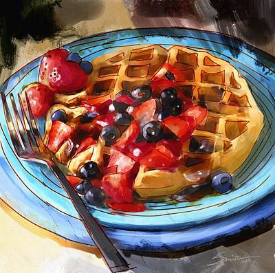 Painting - Waffles by Robert Smith