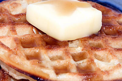 Margarine Photograph - Waffles With Syrup Butter by Erin Cadigan