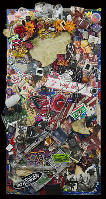 George Bush Mixed Media - Wage Peace by Doug LaRue