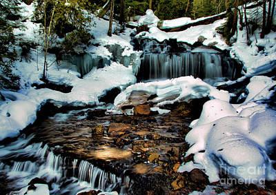 Photograph - Wagner Falls In Winter by Matthew Winn