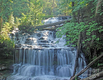 Wagner Falls  Soft Water Effect Art Print by Bill Woodstock