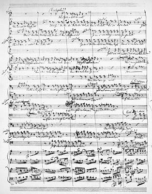 Painting - Wagner Manuscript, 1866 by Granger