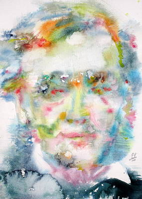 Painting - Wagner - Watercolor Portrait by Fabrizio Cassetta