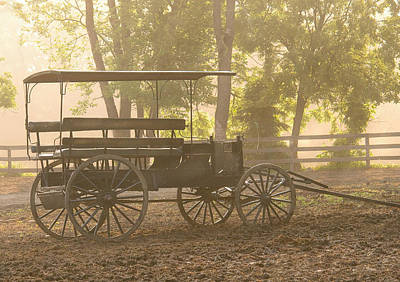 Wagon - Abe's Buggie Art Print by Mike Savad