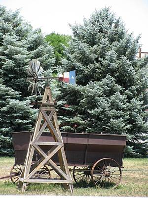 Bi-cycle Photograph - Wagon And Windmill by Steven Parker