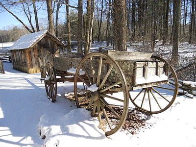 Photograph - Wagon At Mabry Mill by Diannah Lynch