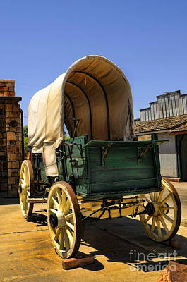Photograph - Wagon At Trading Post by Brenda Kean