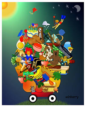 Wagon Of Toys Art Print by Bob Winberry