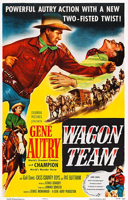 Wagon Team, Us Poster Art, Gene Autry Art Print by Everett