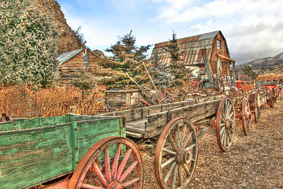 Photograph - Wagon Train by TL  Mair