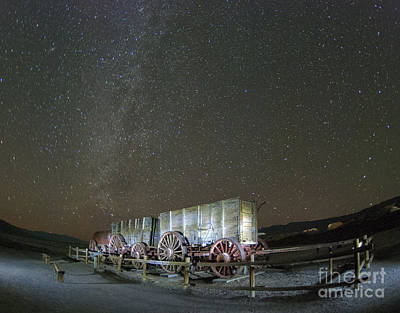 Death Valley Photograph - Wagon Train Under Night Sky by Juli Scalzi