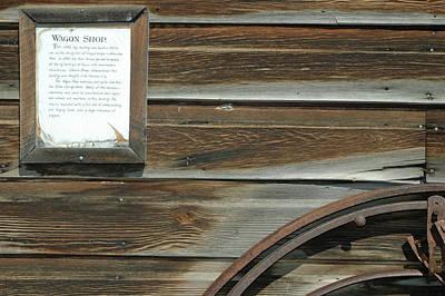 Wagon Wheel And Wagon Shop Nevada City Montana Art Print