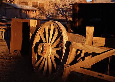 Yermo Photograph - Wagon Wheel - Calico by Michael Hope
