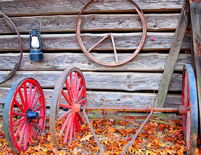 Wagon Wheel Art Print by Dan Sproul