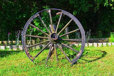 Wall Art - Photograph - Wagon Wheel by Jackie and Noel Parry