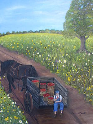 Painting - Tomato Wagon  by Linda Clark