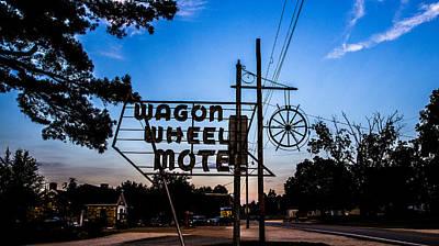 Claude Monet - Wagon Wheel Motel 2 by Angus Hooper Iii