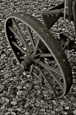 Photograph - Wagon Wheel On Ice by Amanda Smith
