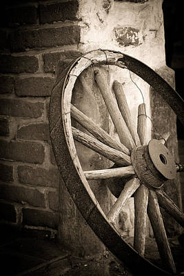Old West Photograph - Wagon Wheel by Peter Tellone