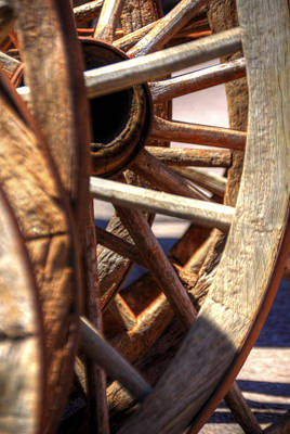Jerry Sodorff Royalty-Free and Rights-Managed Images - Wagon Wheel Spokes 21839 by Jerry Sodorff