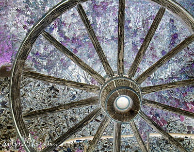 Art Print featuring the photograph Wagon Wheel Study 1 by Sylvia Thornton