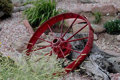 Photograph - Wagon Wheel by Trent Mallett