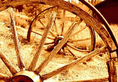 Wagon Wheel Art Print by Greg Schuster