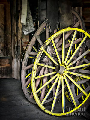 Wagon Wheels Art Print by Colleen Kammerer