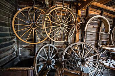 Wagon Wheels Photograph - Wagon Wheels by Edward Fielding