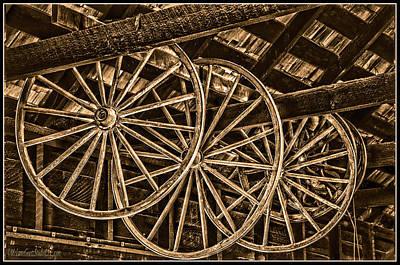 Photograph - Wagon Wheels Hdr by LeeAnn McLaneGoetz McLaneGoetzStudioLLCcom