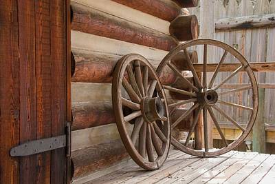 Photograph - Wagon Wheels by John Black