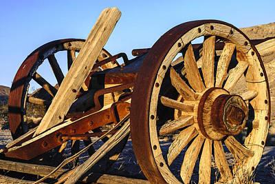 Photograph - Wagon Wheels by Muhie Kanawati